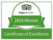 Winner 2013 - Tripadvisor Certificate of Excellence
